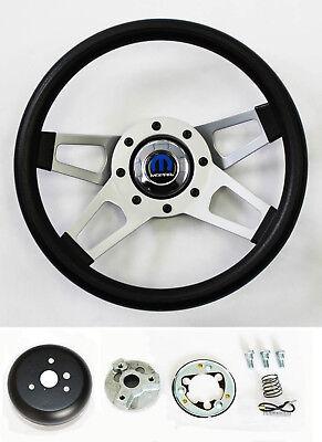"""1968 1969 CHARGER steering wheel BLACK SPOKE 13 3//4/"""" Grant steering wheel"""
