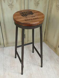 Barstuhl-Barhocker-Hocker-Stuhl-Schmiedeeisen-vintage-Bistrostuhl-E16002-a