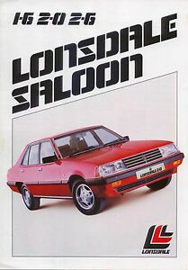 1983 1984 Lonsdale Mitsubishi Australia Original Car Sales Brochure Folder