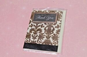 Brown-faux-Velvet-THANK-YOU-Scripture-Card-Small-NIP-FREE-SHIPPING