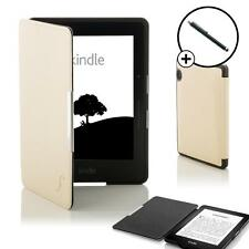 White Smart Shell Case Cover Wallet Sleeve Amazon Kindle Voyage & Free Stylus