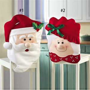 Mr-Mrs-Christmas-Decorations-Hats-Santa-Claus-Dinner-Chair-Back-Cover-Xmas-Party