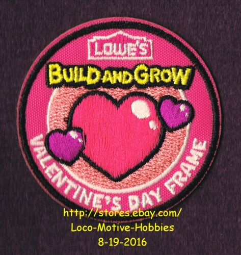 LMH PATCH Badge 2012 VALENTINE/'S DAY FRAME Heart LOWES Build Grow Kids Clinic