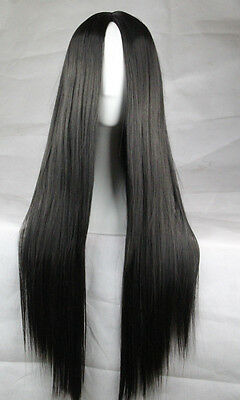 New Fashion Women's Wigs Long Straight Anime Cosplay Party Long Bangs Wig 75cm
