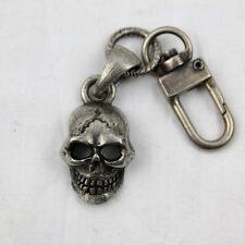 Biker Chopper XL Skull Totenkopf Schlüsselanhänger Wallet Chain Anhänger Clip On