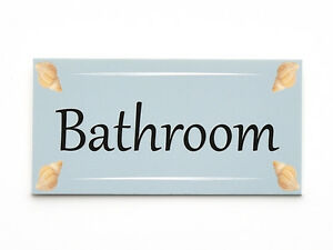 b7877204d52c Image is loading Sea-Shell-V2-Personalised-Door-Name-Plaque-Bathroom-