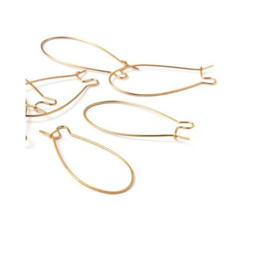50 pièces Accessoires création attache boucle d/'oreille crochet 43 mm
