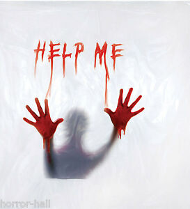 Image Is Loading Deluxe Psycho BLOODY HELP ME SHOWER CURTAIN Halloween