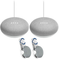 Google Home Mini Smart Speaker w/Google Assistant Chalk 2Pack+2x Wall Mount