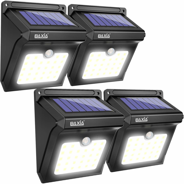 Baxia luces solares al aire libre, inalámbrico 28 Luces Led Solar Sensor De Movimiento, Waterproo