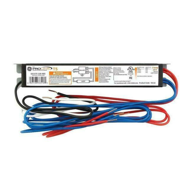 T5 ballast Single Lamp 120 Volt Electronic GE21T5-120-RES Free Ship