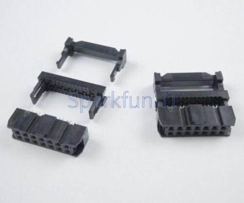 10PCS X 14Pin 2x7 2.54 Pitch IDC FC-14 Female JTAG Socket ISP Connector Flat NEW