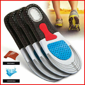 Solid-Silicone-Gel-Insoles-Case-Plantar-Fasciitis-OrthoCentral-Pad-Insole-DD
