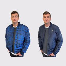 MEGA SALE -  Le Breve Mens Big Size Quilted Padded Zip Up Bomber Jacket Coat