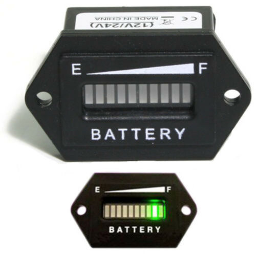 12V-24V// 48V Battery Capacity LED Digital Batterie Indikator Gauge Meter
