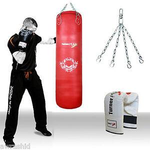 TurnerMAX-Red-Leather-Punch-bag-muay-thai-kickboxing-punching-bag-thai-boxing