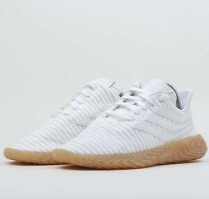 low priced de8ce b8156 Image is loading Adidas-Originals-Sobakov-White-Gum-BB7666-Mens-Shoes-