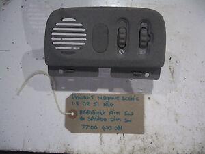 Renault-Megane-Scenic-1-8-5dr-2002-51-reg-Headlight-Aim-amp-Clocks-Dimmer-Switch