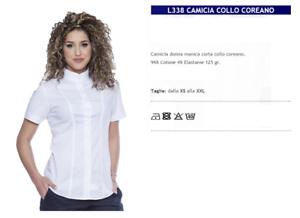 huge discount 06092 9deb9 Dettagli su CAMICIA COLLO COREANA DONNA BAR GELATERIA CAFFETTERIA CAMERIERA  L338 GP ITALIA