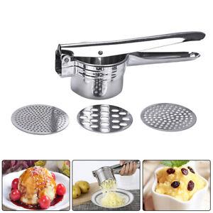 Stainless Steel Kitchen Potato Masher Ricer Puree Fruit Juicer Press Maker Tool