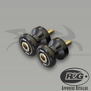 Aprilia-RS125-2010-2012-R-amp-G-Racing-Cotton-Reels-Paddock-Stand-Bobbins-Black