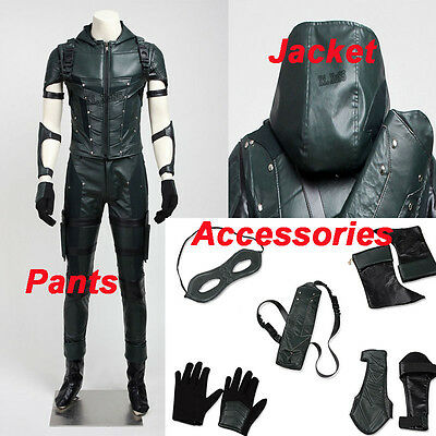 Green Arrow Season 4 Oliver Cosplay Costume Jacket Pants Accessories Halloween