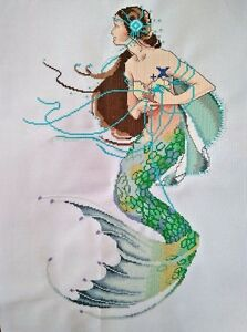 New-Finished-completed-Cross-stitch-034-Mermaid-034-home-decor-gifts-C63