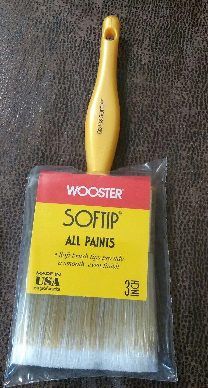 Lot of 12 Wooster 3  Softip Nylon Poly Flat Paint Brush Q3108