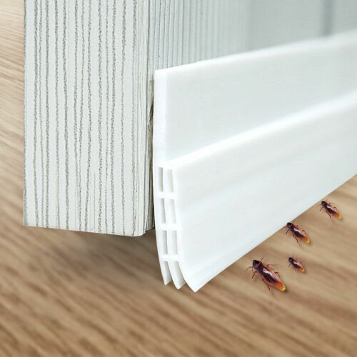 Under Doors Sweep Door Draft Stripping Bottom Seal Sound Air Proof Pest Stopper