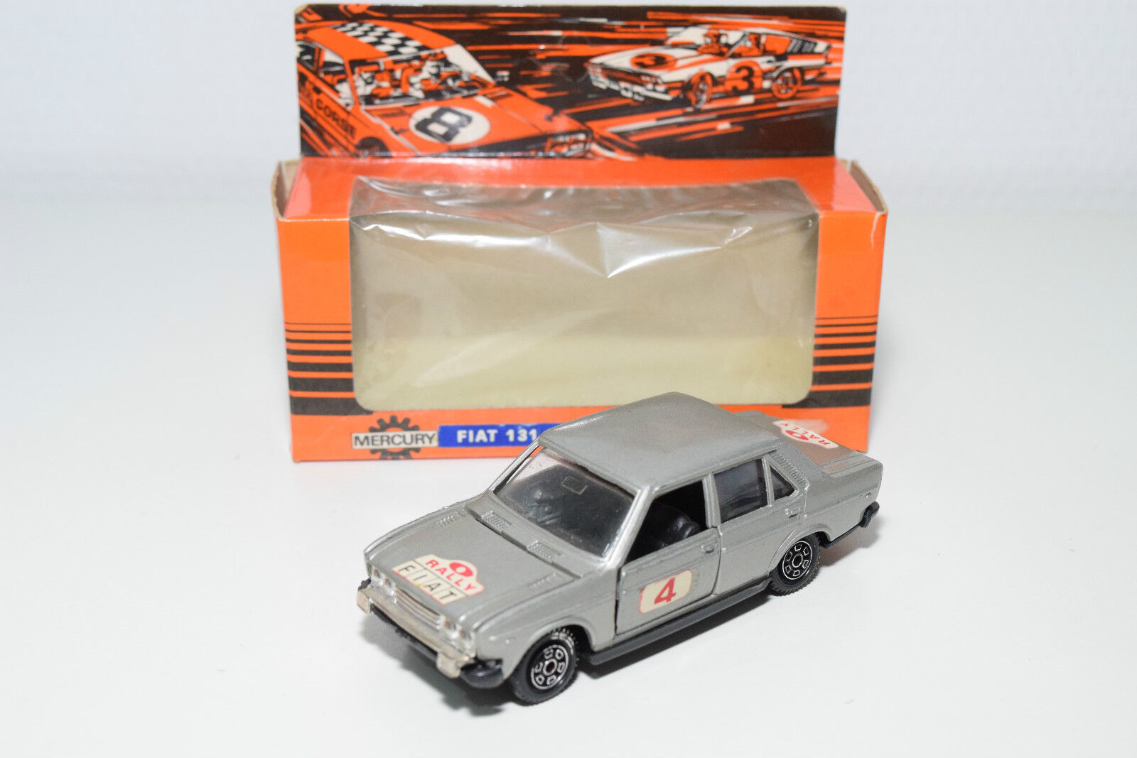 MERCURY 1 FIAT 131 MIRAFIORI RALLY METALLIC gris NEAR MINT BOXED RARE SELTEN