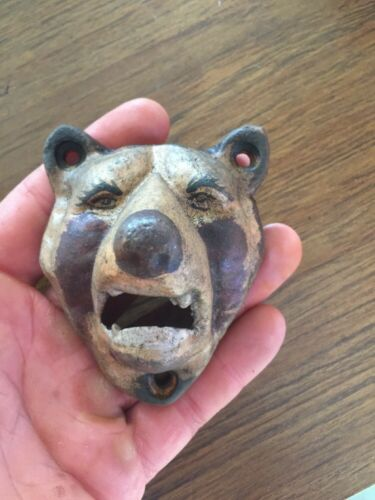 Pabst Cast Iron Beer Bottle Opener Masters Brewery Antique Style Grizzly Bear vg