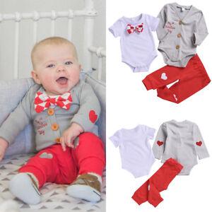 4290bd2d36d8 Baby Boy 1st Valentine s Day Costume Bowtie Gentleman Outfits Love ...