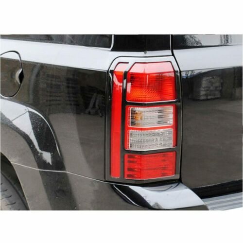 Black Tail Lamp Frame Decor Tail Light Protect Cover fits 2007-2017 Jeep Patriot