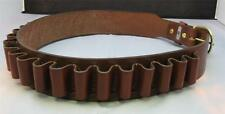 """LEATHER SHOTGUN SHELL AMMO BELT 25 LOOPS - 20 gauge - BROWN NEW 34"""" to 50"""" sizes"""
