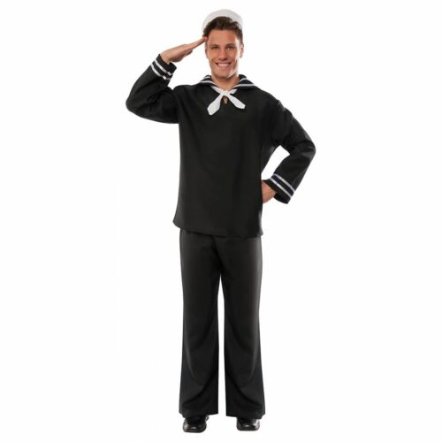 First Mate Costume Mens Sailor USA Marine Navy Village People Plus Size Std-XXL