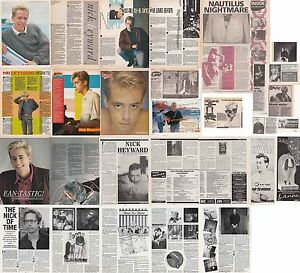 NICK HEYWARD  CUTTINGS COLLECTION adverts interviews Haircut 100 - England, United Kingdom - NICK HEYWARD  CUTTINGS COLLECTION adverts interviews Haircut 100 - England, United Kingdom