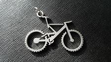 Schlüsselanhänger Fully Bike Handmade Glasperlgestrahlt