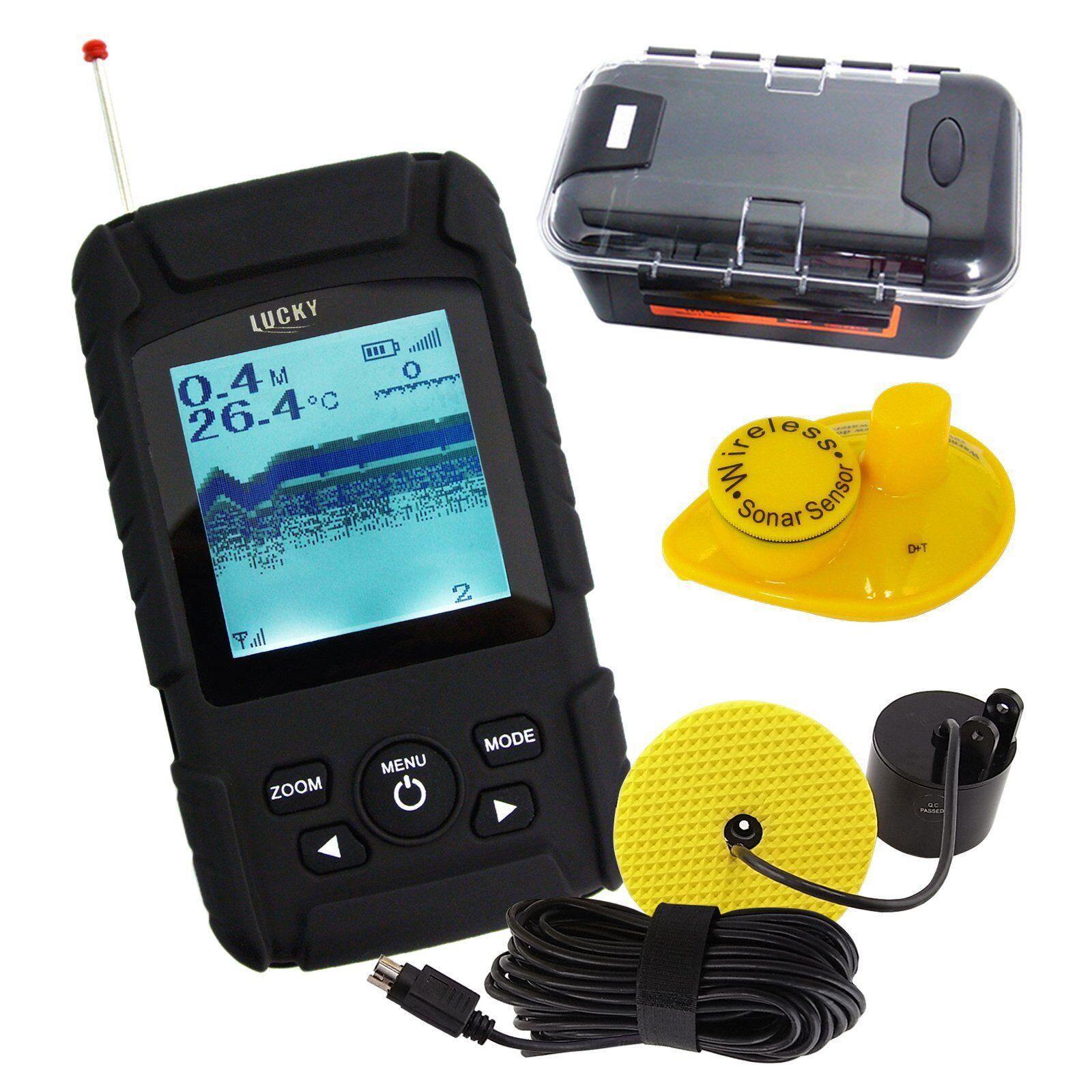Profesional Impermeable Pescado Finder Wirojo & Inalámbrico Sensor 328ft   100m