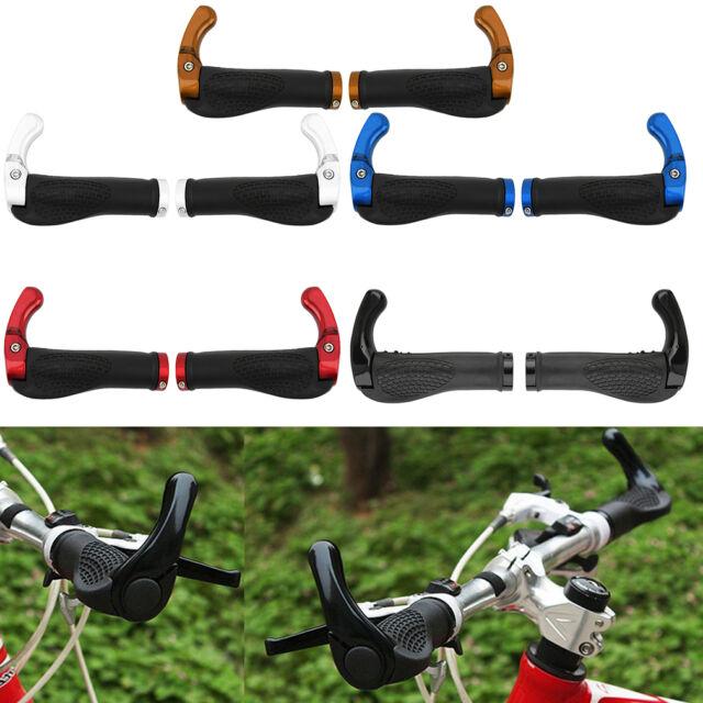 MTB Cycling Handlebar Grips+End Plugs Ergonomics Locking Aluminium Anti-Slip UK