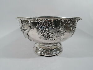 Tiffany-Bowl-6483-Japonesque-Centerpiece-Punch-American-Sterling-Silver