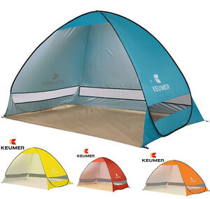 Image is loading 2017-Large-Pop-Up-Beach-Tent-UV-Protection-  sc 1 st  eBay & 2017 Large Pop Up Beach Tent UV Protection Camping Fishing Garden ...