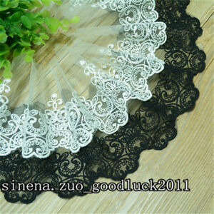 1-yards-Tulle-Lace-Trim-Ribbon-Appliques-Embroidered-Handicrafts-Sewing-FL166