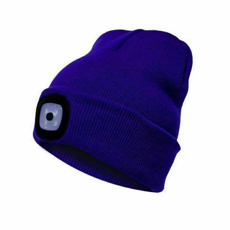 Adjustable Brightness Headlamp Winter Lighted Beanie Cap Cap For Walking,Biking,Fishing,Camping,Hunting,Black Beanie Hat with USB Rechargeable LED Light For Men and Women