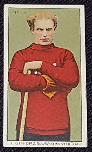 1910-LACROSSE-C60-J-GIFFORD-66-NEW-WESTMINSTER-IMPERIAL-TOBACCO-CARD