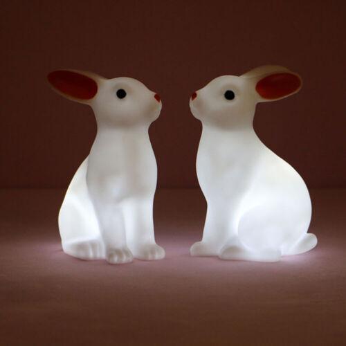 2pcs Cute Easter Rabbit Night Light Creative Desktop Lamp Bedside Decorative