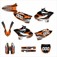 Yz125 Yz250 Graphics Sticker Kit For Yamaha 2015 2016 1900 Orange