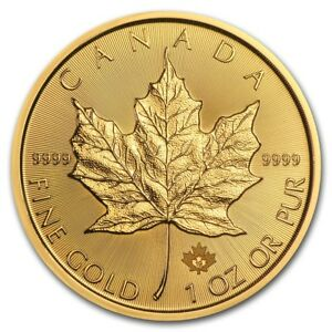 2019 Canada 1 oz Gold Maple Leaf BU - SKU #180471