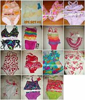 Girls Swimsuit Set Multi Sizes & Sytles 12m 18m 2t 3t 4t 5 6x