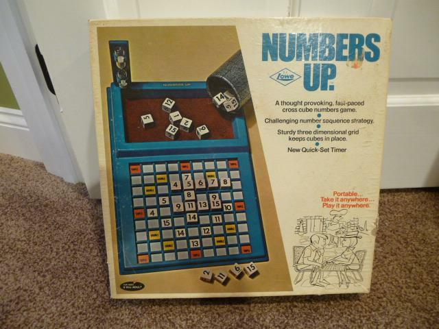 Vintage Numbers Up Board Game EUC Complete 917 Niedrige 1971 EUC Number Sequence