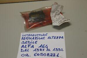 ALFA 164 INTERRUTTORE REGOLAZIONE SEDILE ALFA DAL 1987 AL 1992 164 COD. 60508221